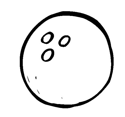 Dibujo de Bola de bolos para Colorear