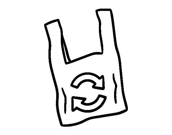 Dibujo de bolsa de pl stico biodegradable para colorear - Pintar botellas de plastico ...