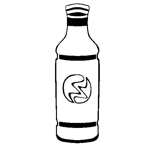 Dibujo de Botella de refresco para Colorear