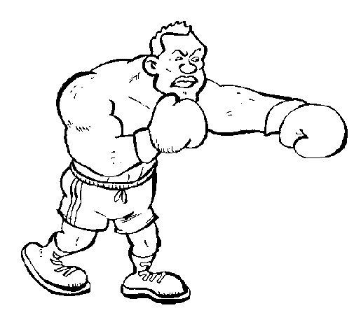 Dibujo de Boxeador para Colorear