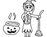 Dibujo de Bruja 2 para colorear