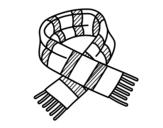 Dibujo de Bufanda de rayas para colorear