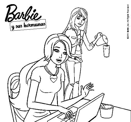 Dibujo de Buscando en internet para Colorear