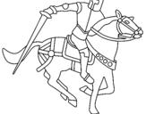 Dibujo de Caballero a caballo IV