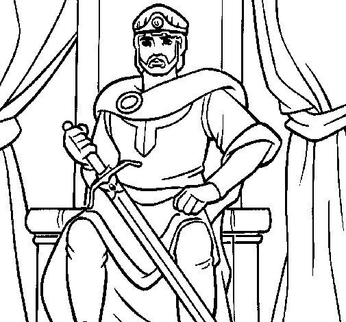 Dibujo de Caballero rey para Colorear