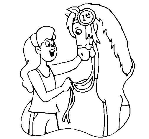 Dibujo de Caballo ganador para Colorear