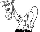 Dibujo de Caballo serio para colorear