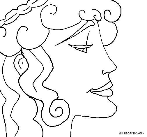 Dibujo de Cabeza de mujer para Colorear