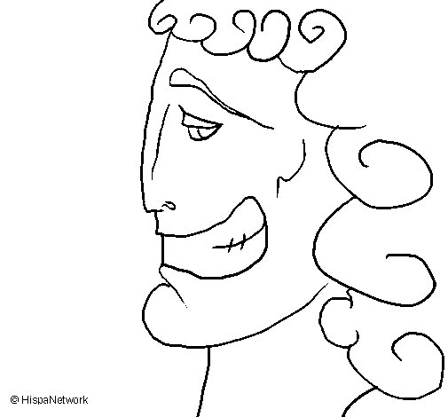 Dibujo de Cabeza griega para Colorear