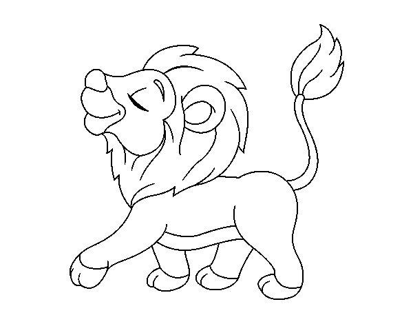 Dibujo De Cachorro De León Para Colorear