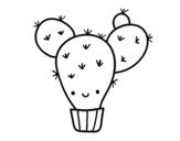 Dibujo de Cactus nopal