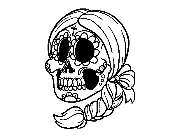 Dibujo Calavera Mejicana Tattoo Pictures to Pin on Pinterest