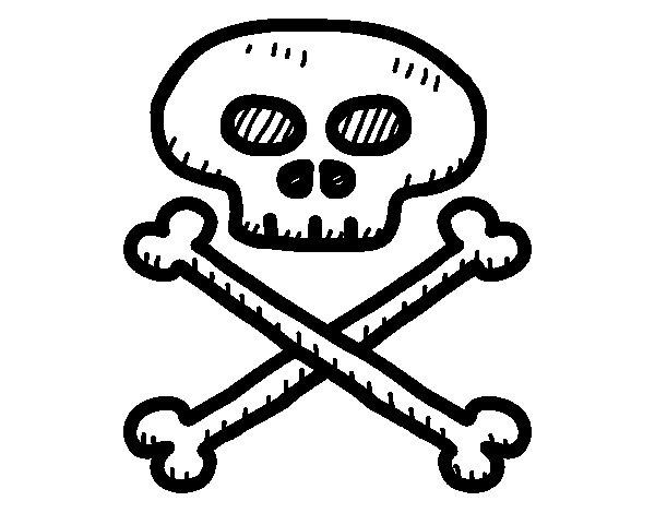 Dibujo de Calavera pirata para Colorear - Dibujos.net