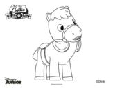 Dibujo de Callie en el oeste - Chispas para colorear