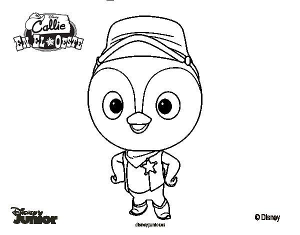 Dibujo de Callie en el oeste - Pico para Colorear ...