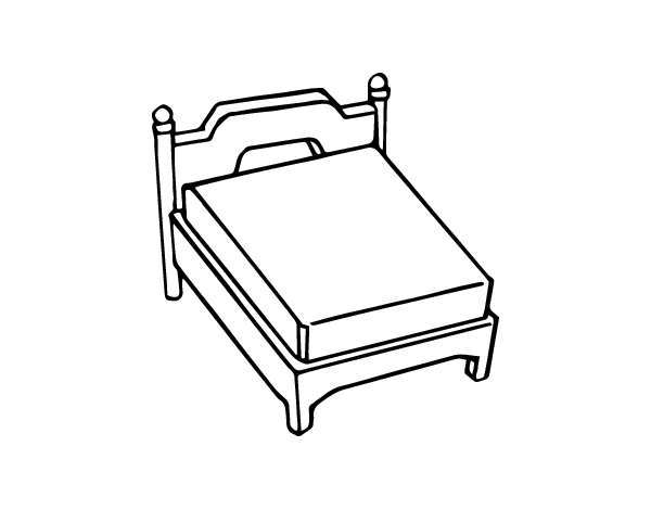 Dibujo de cama coloreada imagui for Cama para colorear
