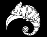 Dibujo de Camaleón para colorear