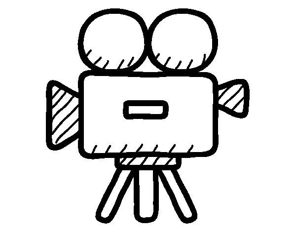 Dibujo de Cámara de vídeo para Colorear