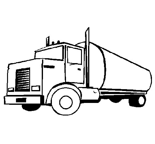 Dibujo de Camión cisterna 1 para Colorear