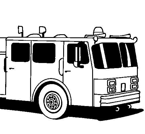 Dibujo de Camión de bomberos para Colorear