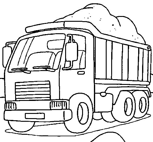 Dibujo de Camión de carga 1 para Colorear