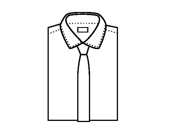 Dibujo de camisa con corbata para colorear - Cravate dessin ...