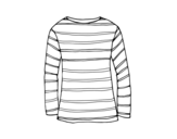 Dibujo de Camiseta de manga larga para colorear