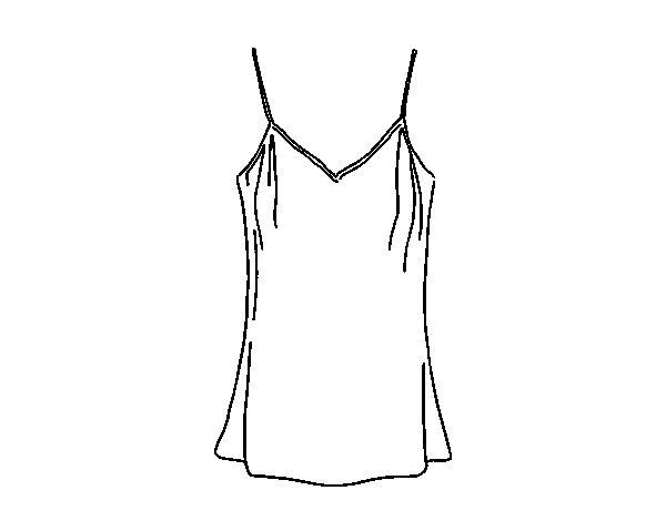 Dibujo de camiseta de tirantes para colorear - Dibujos para pintar camisetas infantiles ...