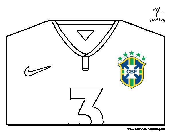 Dibujo de Camiseta del mundial de fútbol 2014 de Brasil para ...