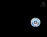 Dibujo de Camiseta del mundial de fútbol 2014 de Chile para colorear