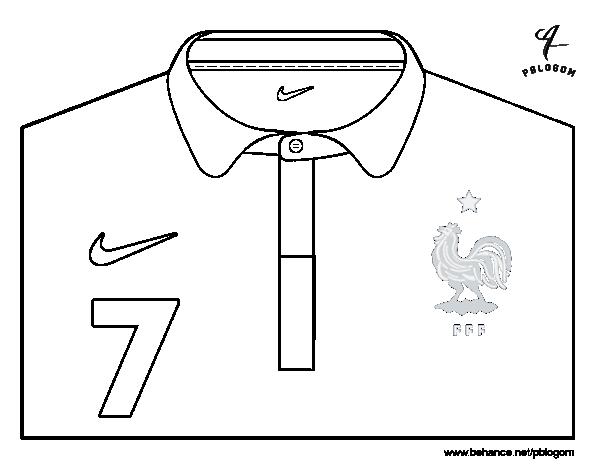 Dibujo de Camiseta del mundial de fútbol 2014 de Francia para ...