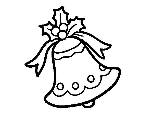 dibujo de campana navidea para colorear - Campanas Navideas