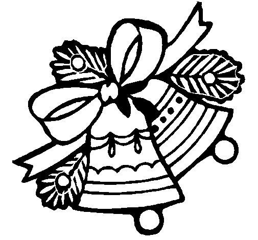 Dibujo de Campanas de navidad 1 para Colorear