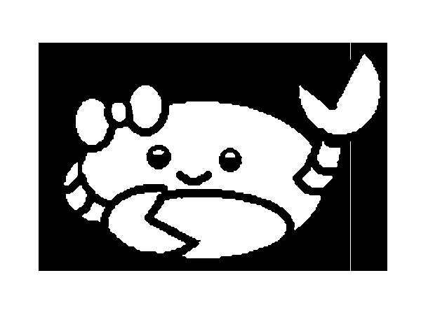 Dibujo de Cangrejo simpático para Colorear - Dibujos.net