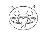 Dibujo de Cara de demonio para colorear