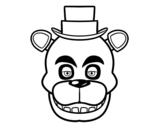 Dibujo de Cara de Freddy de Five Nights at Freddy's para colorear