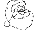 Dibujo de cara de papá noel para colorear