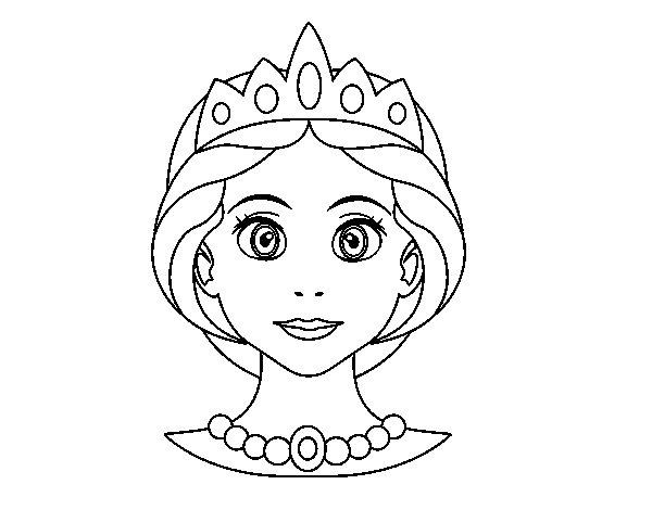 Dibujo de Cara de princesa para Colorear