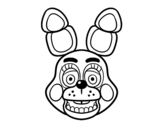 Dibujo de Cara de Toy Bonnie de Five Nights at Freddy's para colorear