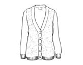 Dibujo de Cardigan de lana para colorear