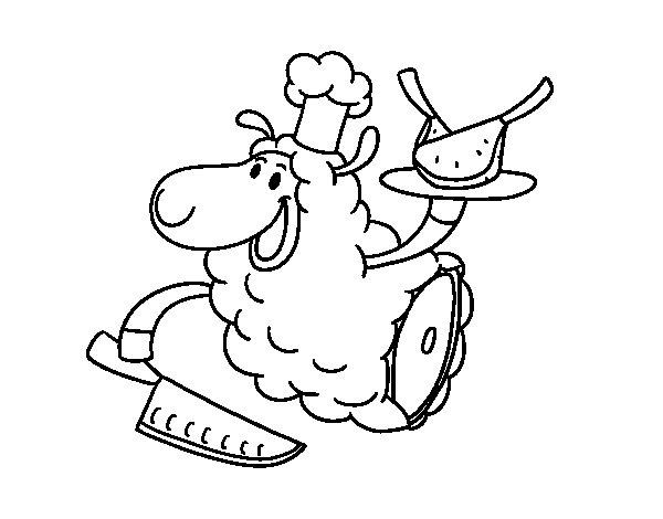 Dibujo de Carne de cordero para Colorear