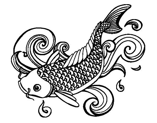 Carpa Koi Dibujos Pictures to Pin on Pinterest - TattoosKid