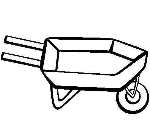 Dibujo de Carretilla 1 para Colorear