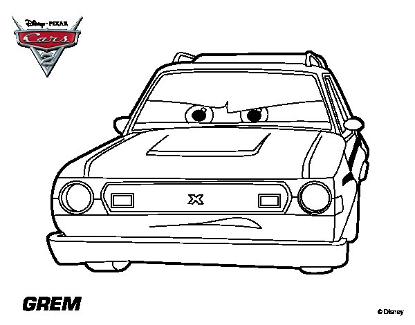 Pin Colorear De Cars Fillmore Dibujos Para Pintar Imprimir