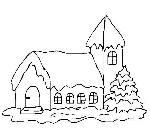Dibujo de Casa 1 para Colorear