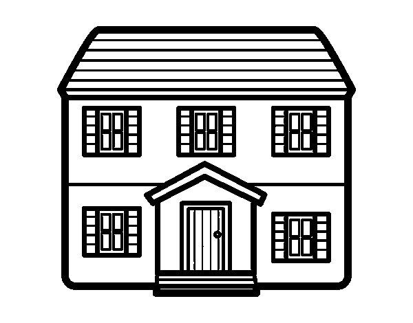 Dibujo de casa con dos pisos para colorear - Fotos de casas para dibujar ...