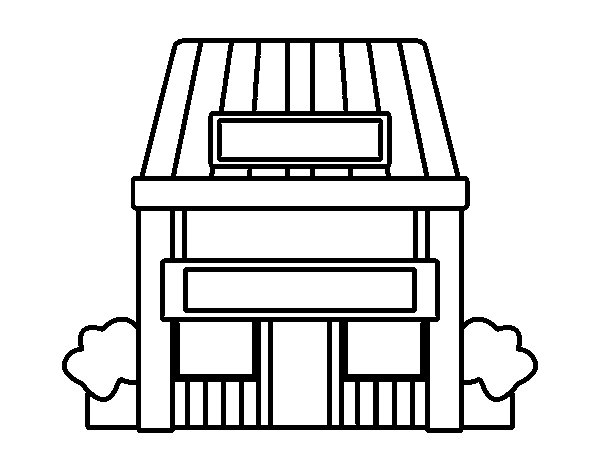 Dibujo de casa con jard n para colorear for Casa y jardin tienda