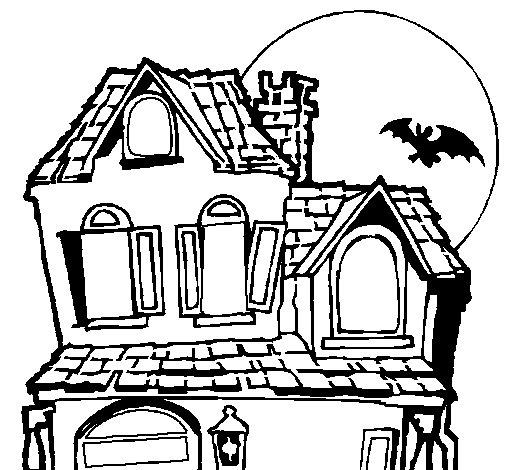 Dibujo de casa del misterio para colorear - Fotos de casas para dibujar ...