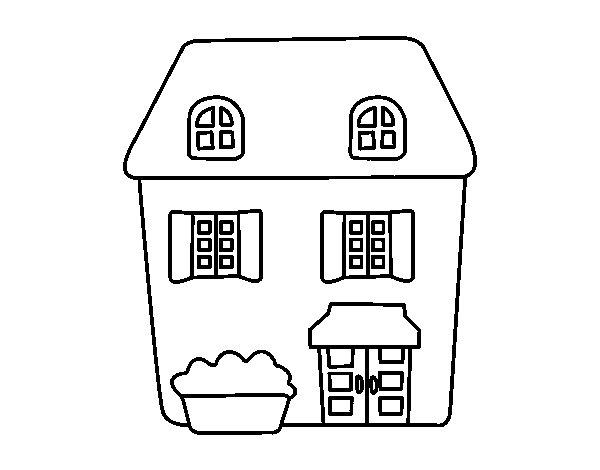 Dibujo de casa estilo ingl s para colorear for Cedro agitare disegni per la casa
