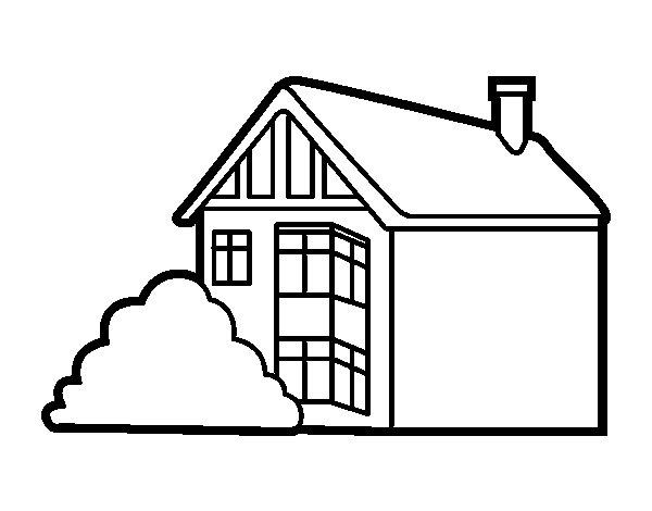 Dibujo de casa moderna para colorear - Como pintar mi casa moderna ...